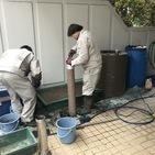 神奈川県藤沢市湘南台にて、焼肉屋さんのダクト掃除をしてました