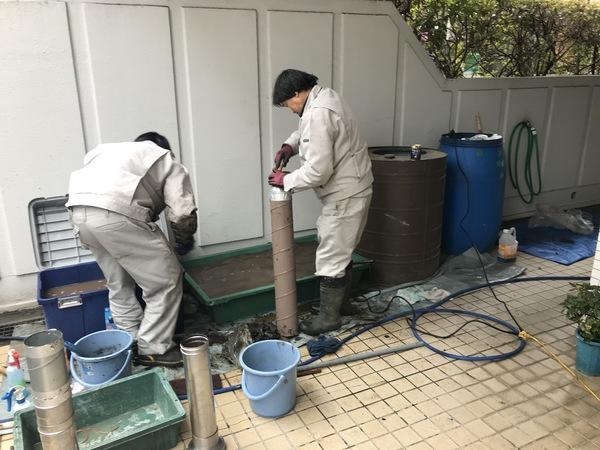 神奈川県藤沢市湘南台にて、焼肉屋さんのダクト掃除をしてましたのサムネイル